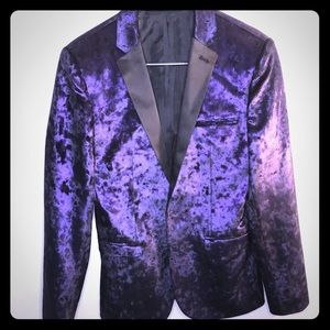 ASOS crushed purple velvet blazer